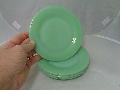 Vintage 1940's Fire King Jade-Ite Oven Ware Bread, Salad or Dessert Plates 6-3/4