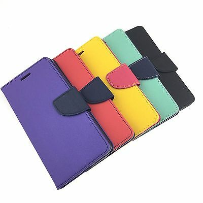 NEW LG X Power High Quality PU Leather Flip Wallet Case Cover Stand Credit Card