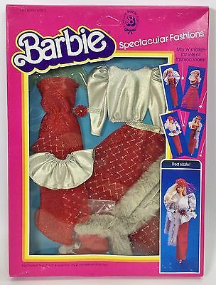 1983 Barbie Spectacular Fashions #7217 Red Sizzle Nrfb