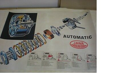 Poster 96x68cm - an automatic clutch Jawa