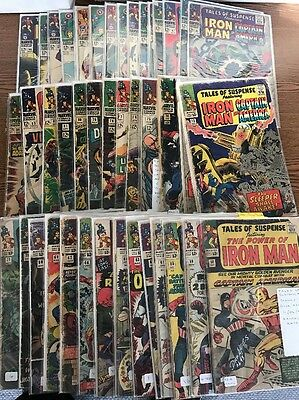 Tales Of Suspense 58-99 Complete Run Silver Age Lot 42 Comics Iron man Marvel