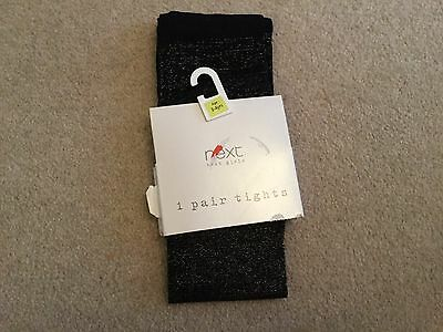 Girls Next black sparkle tights from Next size 3 - 4 years BNIP