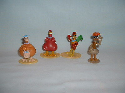 CHICKEN RUN Set Of 4 Plastic Figure Toys (CAKE TOPPERS/ROCKY/BABS/BUNTY/MAC)