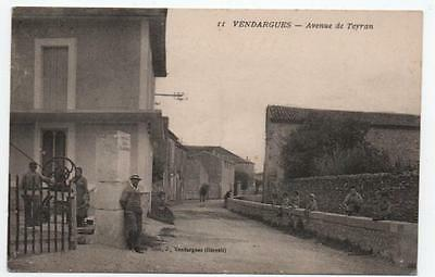 "CPA HERAULT 34 VENDARGUES ""AVENUE DE TEYRAN"" carte postale ancienne"