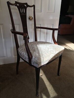 Hepplewhite-style, carver chair (dining chair with arms)