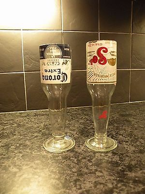 Set of 2 Recycled Beer Bottle Glasses