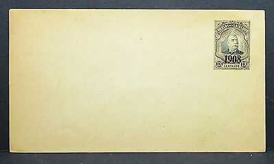 El Salvador Postal Stationery Overprint 1908 Envelope UPU Ganzsache Brief (L-47