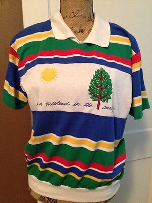 Vintage 80's Suburban Weekend In Country Preppy Shirt Size L