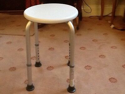 shower stool with adjustable legs