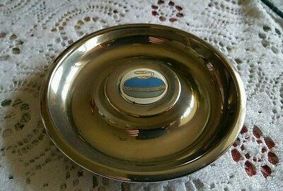 Silver Plated Pin Dish with Curling Stone  Motif
