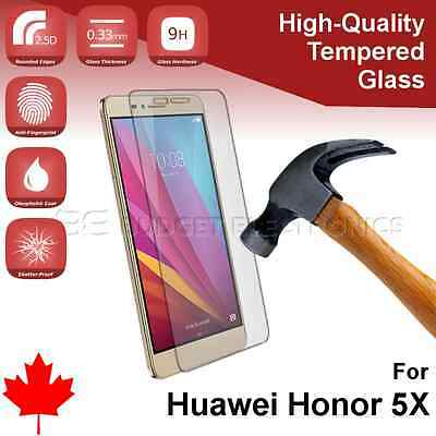 Huawei Honor 5X GR5 Premium Tempered Glass Screen Protector Cover from Canada