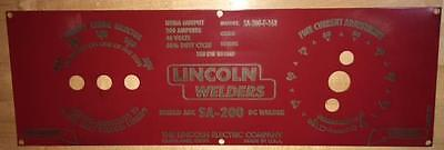 Lincoln Arc Welder Control Plate Powder Coated  Laser Etched, LE Part M-8803