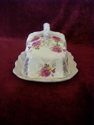 Antique Victorian Large Covered Cheese Dish