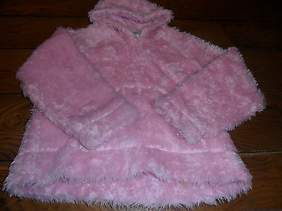 Next Pink Fluffy Hooded Top Age 11 - Stunning And Warm!