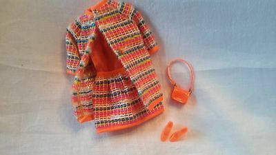 1968 Francie Doll Outfit, Wild 'n Wooly, Tm Tag, Complete!