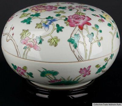 China 20. Jh. Deckeldose - A Large Chinese Famille Rose Box - Cinese Chinois