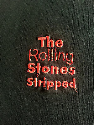 """Rare Rolling Stones Promo Embroidered T. Shirt For The Album """"stripped"""" 1995 Xl"""