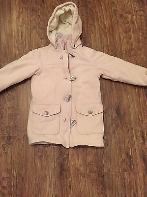 H&M Duffle Coat Age 7 - 8 Years Pink