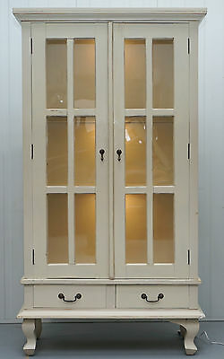 Laura Ashley Shabby Chic Display Cabinet Bookcase Shabby Chic Lights Christmas