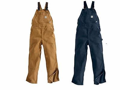 New Carhartt Flame Resistant Safety Work Bib Overalls Unlined Canvas M/L/XL/2XL