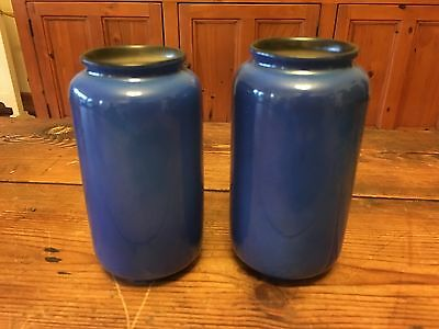 Vintage Pair Of Crown Ducal Ware Vases Made in England