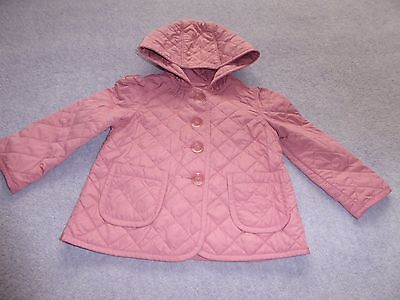 Gorgeous baby Gap pink quilted jacket  Size 3 years  VGC