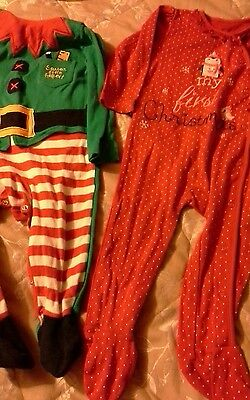 Christmas elf and sleepsuit bundle 9-12 months