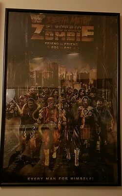 Electric Zombie Death Match WWE WWF Royal Rumble RARE OOP Poster