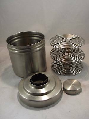 Stainless Steel Developer Tank With Two Samigon 35Mm Film Reels - Exc