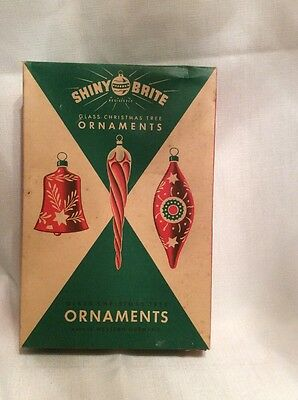 Vintage Shiny Brite Empty Ornament Box