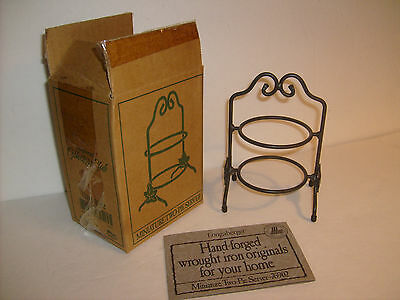Longaberger Collectors Club Miniature Two Pie Server Metal Stand w/BOX