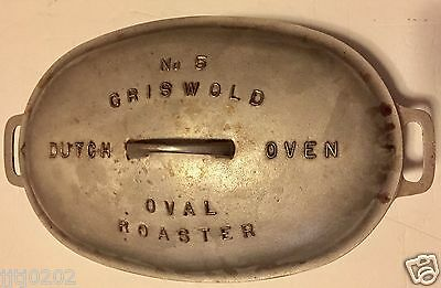 Griswold Cast Iron #5 Dutch Oven Oval Roaster