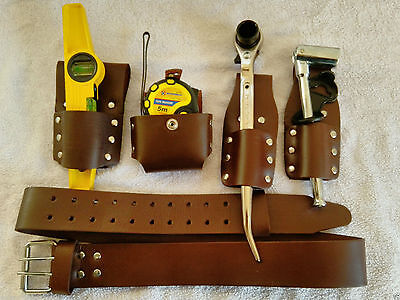 "2""scaffolding Leather Belt With  Tools Set Qualty Item(Uk Seller Masive Bargain)"