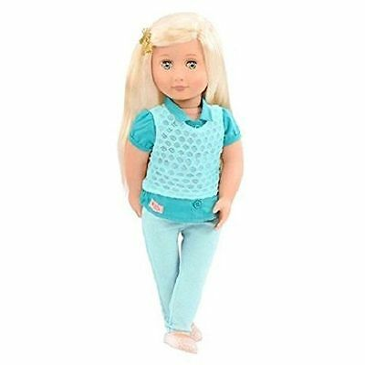 """New Our Generation Celeste 18"""" doll Platinum Blonde Hair Fits American Girl"""