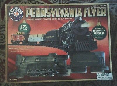 Lionel 7-11685 Pennsylvania Flyer G-Gauge Battery Powered Train Set - BRAND NEW!