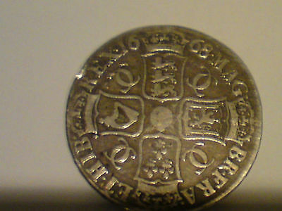 Great Britain 1668 Crown Charles II F+ - aVF Original