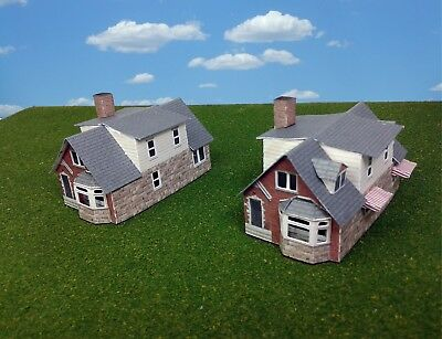 Z Scale Buildings Houses  (QTY 2) - Houses Card Stock Kit
