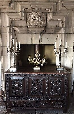 Carved 18th Century OAK Mule Chest C.1730 Keeping in Storage If Not Sold By Sun