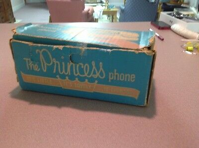 Bell Telephone Princess Phone Box, Held White Phone, 1960s