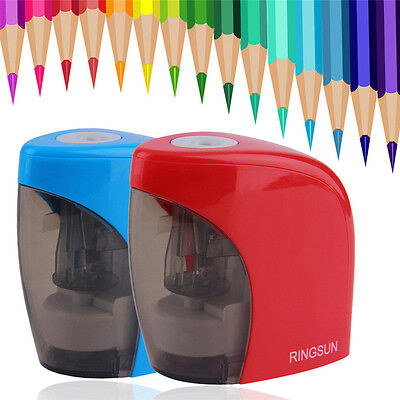 New Automatic Desktop Electric Home School Office Pencil Sharpener Red/Blue