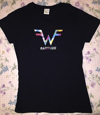 Women's Ladies Weezer Raditude Official Rock Tee Shirt Black XL *Free ship!