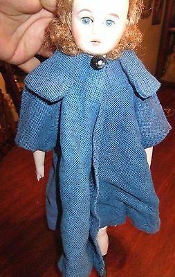Beautiful Dark Blue Wool Coat Doll 10''