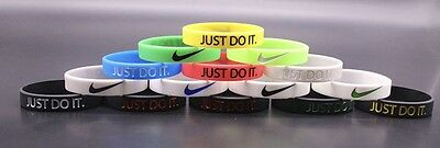 3D Nike JUST DO IT Sports Silicone Wristband Bracelet Baller Band 18 Colors