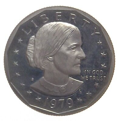 """1979-S Proof - Us Susan B. Anthony Dollar Coin - Clear """"s"""""""