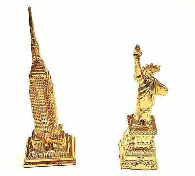 Statue of liberty & Empire state Building statue Gold New York City NYC Gift 3.5