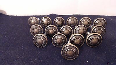 Lot Of 16 Brass Pulls, Knobs, Handles Solid Brass