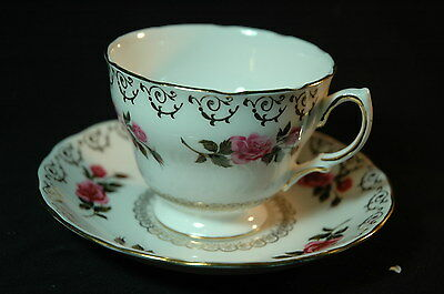 Colclough Roses Gold Banded Cup and Saucer