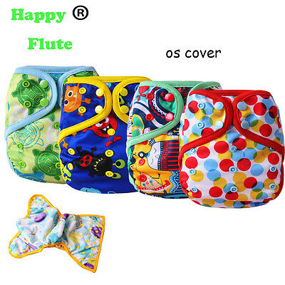 Happy Flute Reusable Waterproof PUL Baby Cloth Diaper Nappy Cover Double Gusset
