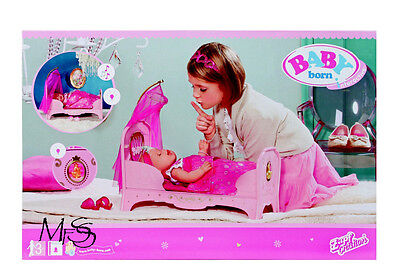 ZAPF CREATIONS Baby Born Interactive Princess Bed  *  Brand New  *