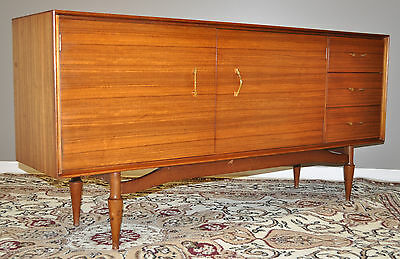 *LONG VINTAGE RETRO 1960/70s TEAK CREDENZA SIDEBOARD BUFFET WITH DRAWERS*